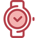 time, watch, tool, square, Clock, Tools And Utensils, Time And Date Sienna icon