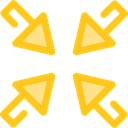Arrows, Orientation, interface, Direction, ui, minimize, Multimedia Option Gold icon