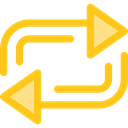 Arrows, Orientation, interface, repeat, Direction, ui, Multimedia Option Gold icon