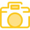 technology, photograph, photo camera, picture, interface, digital Gold icon