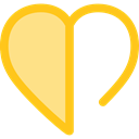 Like, shapes, Peace, lover, loving, Shapes And Symbols, Heart, interface Khaki icon