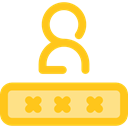password, security, Alarm, Passkey Gold icon