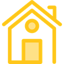 property, real estate, Home, house, Construction, buildings Gold icon