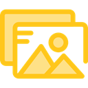 image, photo, picture, photography, interface, landscape, Files And Folders Gold icon