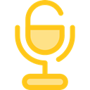ui, technology, vintage, Voice Recording, sound, Microphone, radio Gold icon