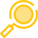 magnifying glass, zoom, detective, Loupe, Tools And Utensils, Seo And Web, search Gold icon