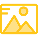 interface, landscape, Files And Folders, image, photo, picture, photography Gold icon