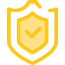 security, Protection, shield, weapons, defense Gold icon