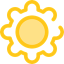 configuration, ui, cogwheel, Tools And Utensils, Gear, settings Gold icon