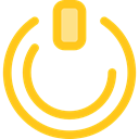 power button, power on, Multimedia Option, Start Button, Energy, Multimedia, power, ui, technology Gold icon
