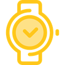 Clock, time, watch, tool, square, Tools And Utensils, Time And Date Gold icon
