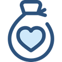 Heart, miscellaneous, Charity, Business And Finance, Money, donation, money bag, Solidarity DarkSlateBlue icon