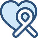 miscellaneous, medical, Ribbon, Aids, Solidarity DarkSlateBlue icon