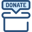 help, Box, miscellaneous, Money, commerce, donate, donation, Charity DarkSlateBlue icon