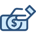 Heart, love, Business, Currency, donation, Charity, Business And Finance DarkSlateBlue icon