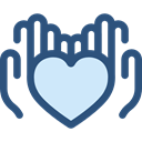 Heart, miscellaneous, Hands, donation, Solidarity, Charity, Hands And Gestures DarkSlateBlue icon
