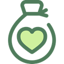 Heart, miscellaneous, Money, donation, money bag, Solidarity, Charity, Business And Finance DimGray icon