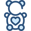 Animal, bear, Animals, Fluffy, Kid And Baby, children, teddy bear, childhood, puppet DarkSlateBlue icon