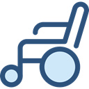 Disabled, transport, handicap, Healthcare And Medical, wheelchair, medical DarkSlateBlue icon