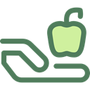 diet, vegetarian, vegan, Healthy Food, Food And Restaurant, Apple, food, Fruit, organic DimGray icon