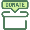 Charity, Money, commerce, donate, donation, help, Box, miscellaneous DimGray icon