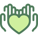 Solidarity, Charity, Hands And Gestures, Heart, miscellaneous, Hands, donation DimGray icon