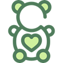 Animal, bear, Animals, children, teddy bear, childhood, puppet, Fluffy, Kid And Baby DimGray icon