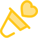 miscellaneous, announcer, Tools And Utensils, megaphone, loudspeaker, shout, protest Gold icon