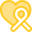 miscellaneous, medical, Ribbon, Aids, Solidarity Gold icon