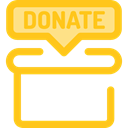 help, Box, miscellaneous, Money, commerce, donate, donation, Charity Gold icon