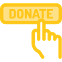 Signaling, Charity, miscellaneous, donate, donation, Solidarity, help Gold icon