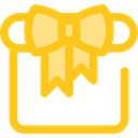 Birthday And Party, gift, present, surprise, Christmas Presents, birthday Gold icon