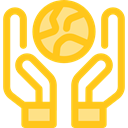 planet, ecology, Planet Earth, Earth Globe, Ecologic, Ecology And Environment Gold icon
