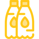 Food And Restaurant, water, Bottle, Healthy Food, Hydratation, drink, food Gold icon
