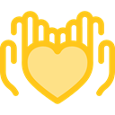 donation, Solidarity, Charity, Hands And Gestures, Heart, miscellaneous, Hands Gold icon