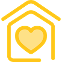 Home, real estate, house, Construction, buildings, property Gold icon