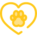 loving, Healthcare And Medical, Heart, interface, Like, shapes, Peace, lover Gold icon