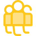 Users, group, people, user, team, men Gold icon
