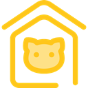 miscellaneous, Dog House, Furniture And Household, Animals, kennel, Doghouse, Pet House Gold icon