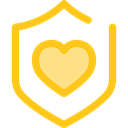 secure, security, Antivirus, shield, defense Gold icon