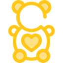 Animal, bear, puppet, Fluffy, Kid And Baby, Animals, children, teddy bear, childhood Gold icon