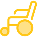 wheelchair, medical, Disabled, transport, handicap, Healthcare And Medical Gold icon