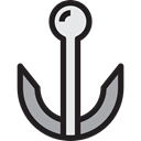 miscellaneous, Anchor, sailing, sail, navy, tattoo, Tools And Utensils, Anchors Black icon