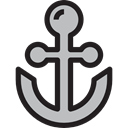 Anchor, sailing, sail, navy, tattoo, Tools And Utensils, Anchors, miscellaneous Black icon