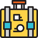 Business, Briefcase, Bag, suitcase, travel, portfolio SandyBrown icon