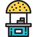 food, commerce, stand, street, Fast food, Hot Dog, Food And Restaurant, Commerce And Shopping, Seo And Web, Food Stand Black icon