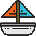 sailing, transportation, Boat, transport, sail, Sailboat, sailing boat, Boats Black icon