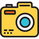 photo camera, picture, interface, digital, technology, electronics, photograph SandyBrown icon