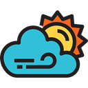 weather, Cloudy, Sunny, sky, meteorology, Clouds And Sun, Cloud Black icon