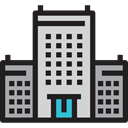 hotel, buildings, Hostel, Holidays, vacations, Architecture And City Black icon